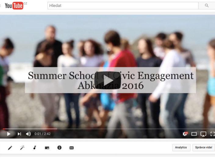 Video z letní školy občanské iniciativy v Abcházii 2016